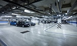 Parking garage, underground interior